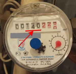 какие цифры передавать со счётчика холодной воды